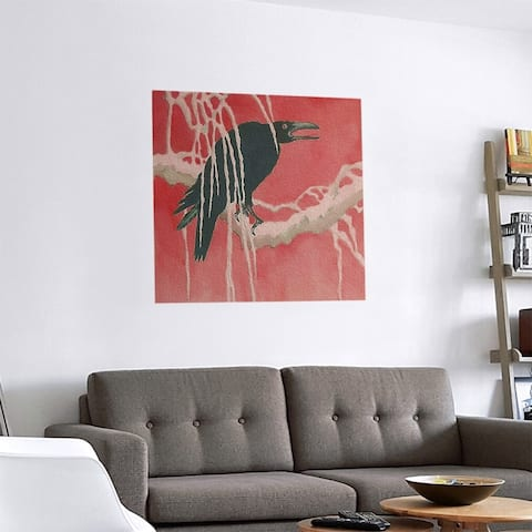 Porch & Den Katsushika Hokusai 'Crow and Willow' Removable Art Decal