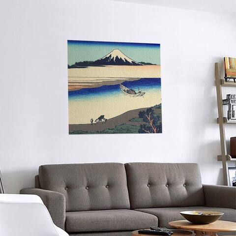 Porch & Den Katsushika Hokusai 'Tama River in Musashi Province' Removable Art Decal