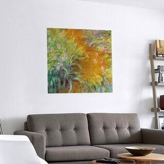 Link to Porch & Den Claude Monet 'Through the Irises' Removable Art Decal Similar Items in Vinyl Wall Art