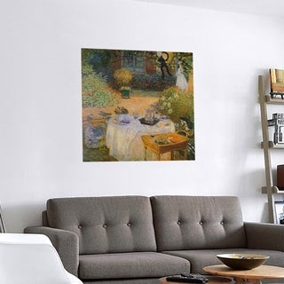 Link to Porch & Den Claude Monet 'The Luncheon' Removable Art Decal Similar Items in Vinyl Wall Art