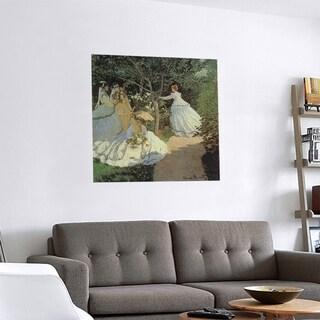 Link to Porch & Den Claude Monet 'Women in the Garden' Removable Art Decal Similar Items in Vinyl Wall Art
