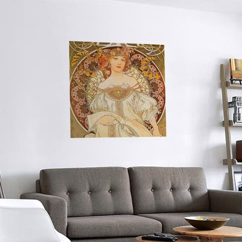 Porch & Den Alphonse Mucha 'Lady Reading' Removable Art Decal