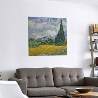 Link to Porch & Den Vincent Van Gogh 'Wheatfield with Cypresses' Removable Art Decal Similar Items in Vinyl Wall Art