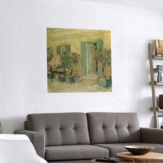 Link to Porch & Den Vincent Van Gogh 'Entrance of a Restaurant in Asnieres' Removable Art Decal Similar Items in Vinyl Wall Art