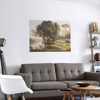 Link to Porch & Den Jean-Baptiste-Camille Corot 'Italian Landscape' Removable Art Decal Similar Items in Vinyl Wall Art
