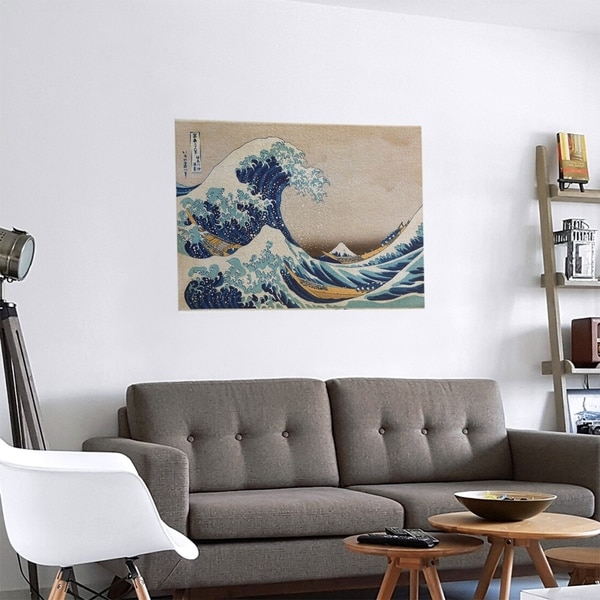 Porch & Den Katsushika Hokusai 'The Great Wave' Removable Art Decal. Opens flyout.