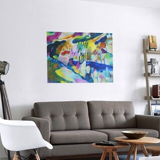 Link to Porch & Den Wassily Kandinsky 'Landscape with Rain' Removable Art Decal Similar Items in Vinyl Wall Art