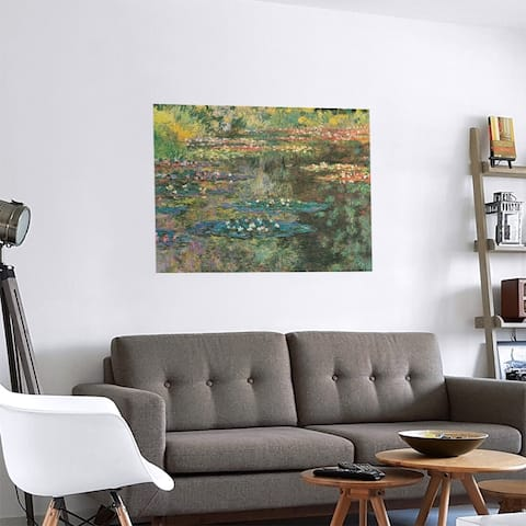 Porch & Den Claude Monet 'Water Lily Pond at Giverny' Removable Art Decal