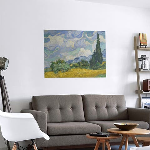 Porch & Den Vincent Van Gogh 'Wheatfield with Cypresses' Removable Art Decal