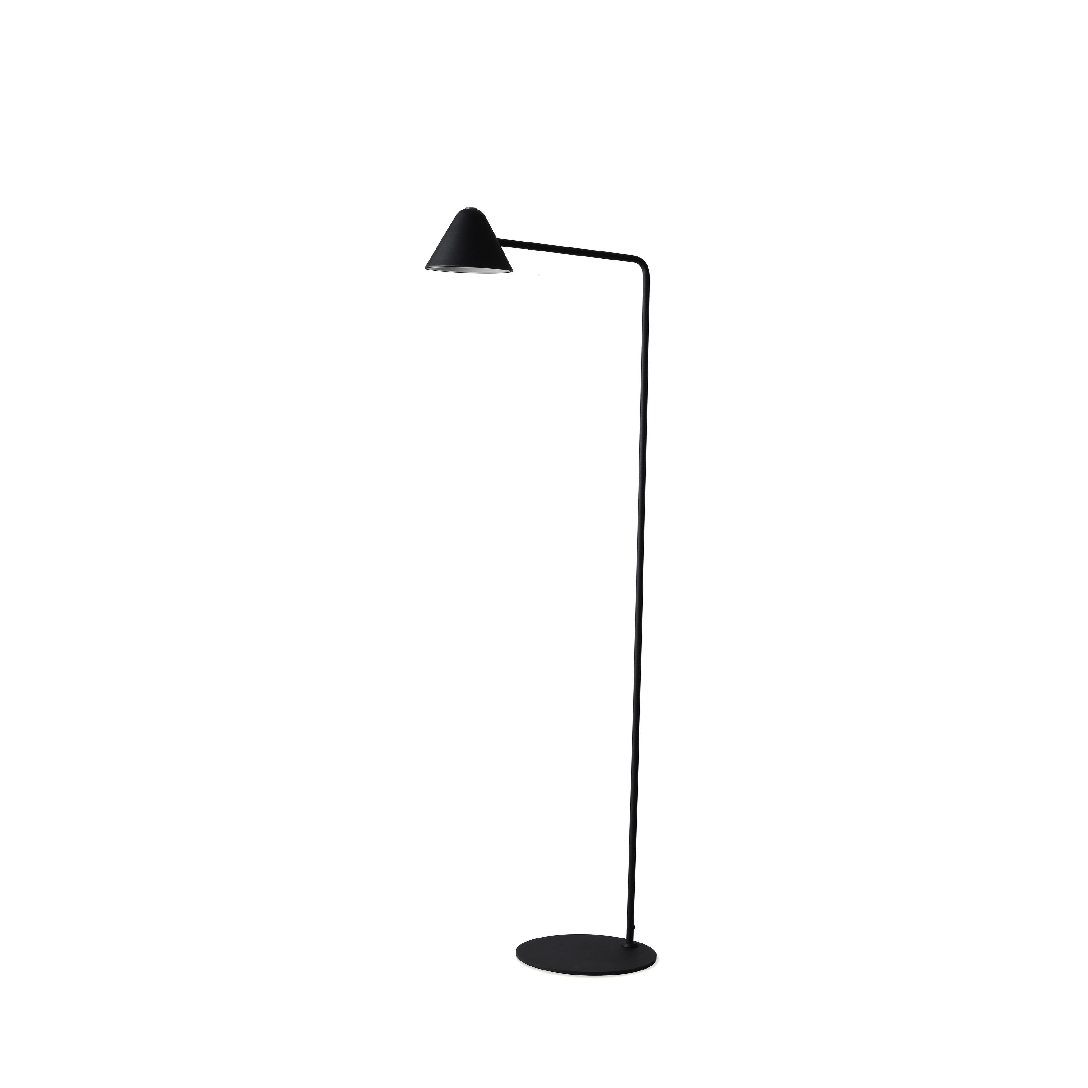 Cove Matte Black Floor Lamp