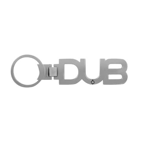 Pilot Automotive Silver DUB Chrome Logo Key Chain
