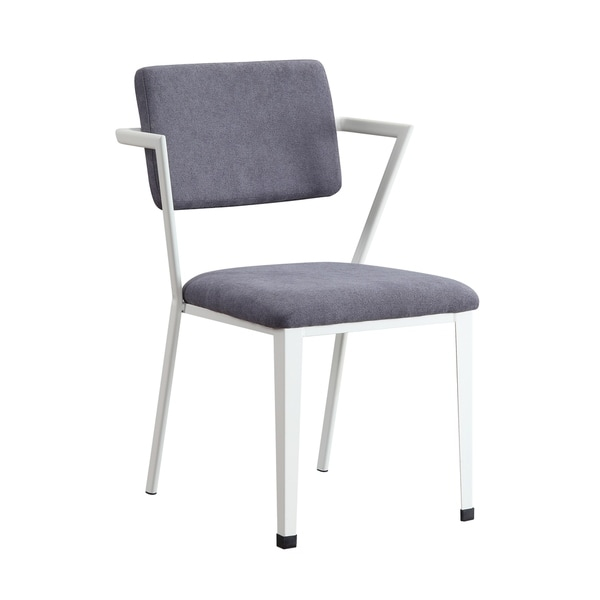 ACME Cargo Chair in Gray Fabric & White