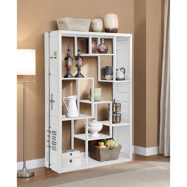 ACME Cargo Book Shelf in White