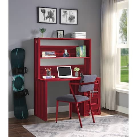 ACME Cargo Chair in Gray Fabric & Red