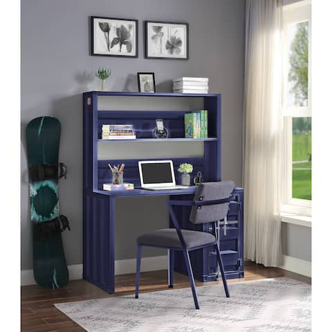 ACME Cargo Chair in Gray Fabric & Blue