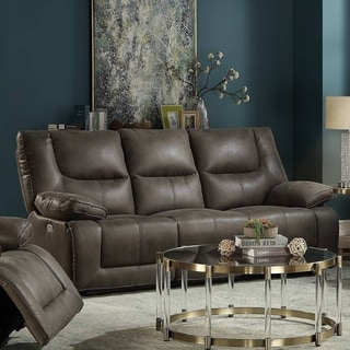 Link to Copper Grove Abs Grey Faux Leather Power Motion Sofa Similar Items in Sofas & Couches