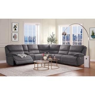 ACME Neelix Sectional Sofa in Seal Gray Fabric