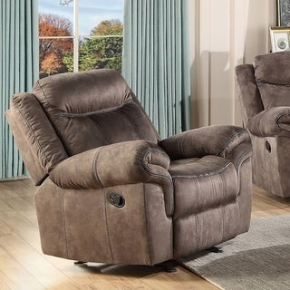 Link to Copper Grove Mudiyah 2-tone Chocolate Gliding Recliner Similar Items in Living Room Furniture