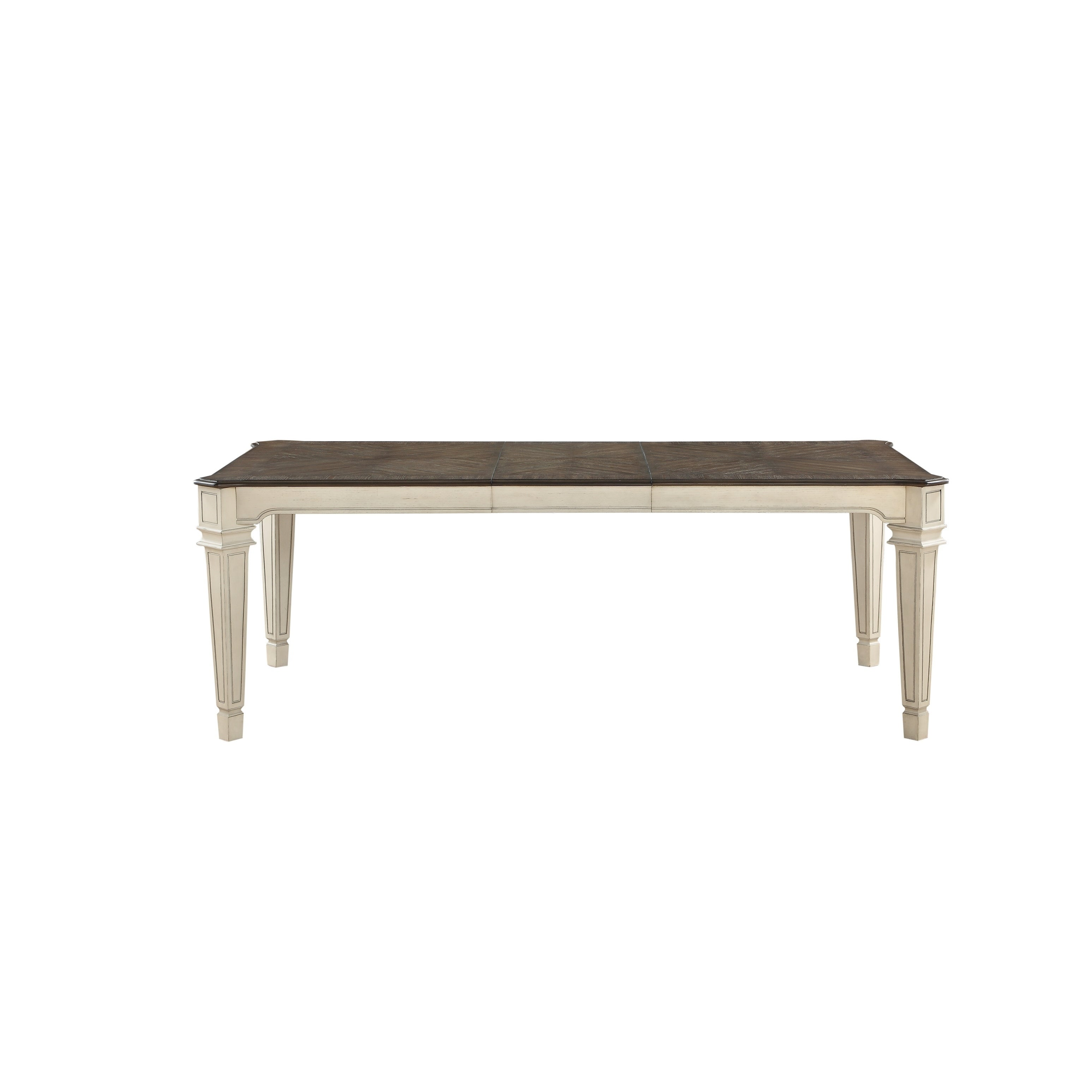 Shop Acme Kayley Dining Table In Antique White Dark Oak Free