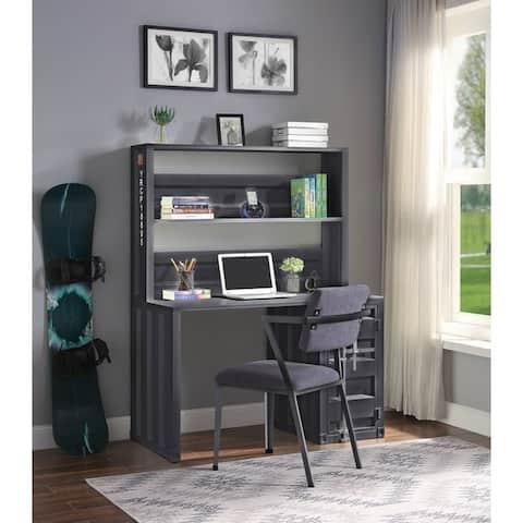 ACME Cargo Chair in Gray Fabric & Gunmetal