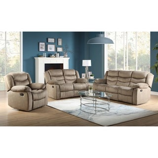 ACME Angelina Recliner in Light Brown Fabric
