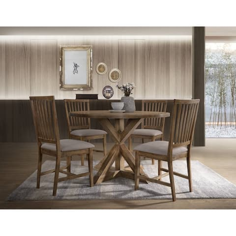 Carbon Loft Dearvette Tan Linen Side Chair (Set of 2)