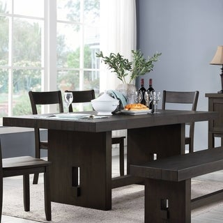 Link to Copper Grove Lahij Distressed Walnut Dining Table Similar Items in Dining Room & Bar Furniture