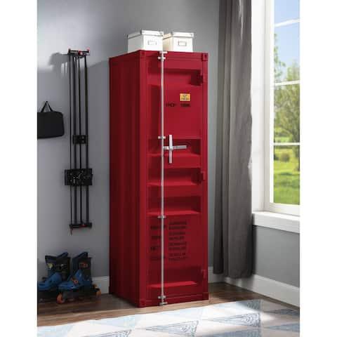 ACME Cargo Wardrobe with 1 Door in Red