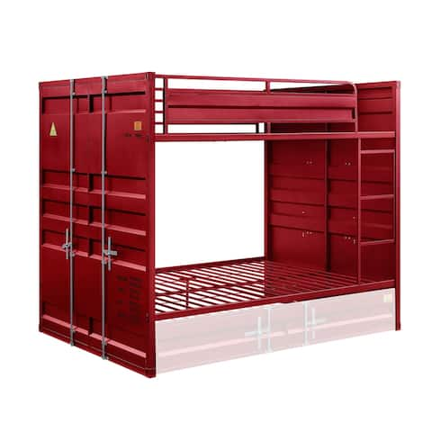 ACME Cargo Full over Full Bunk Bed in Red