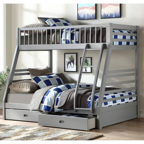 Taylor & Olive Bahia Grey Twin-over-Full Bunk Bed