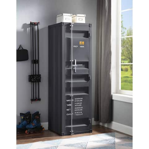 ACME Cargo Wardrobe with 1 Door in Gunmetal