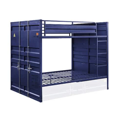 ACME Cargo Full over Full Blue Bunk Bed