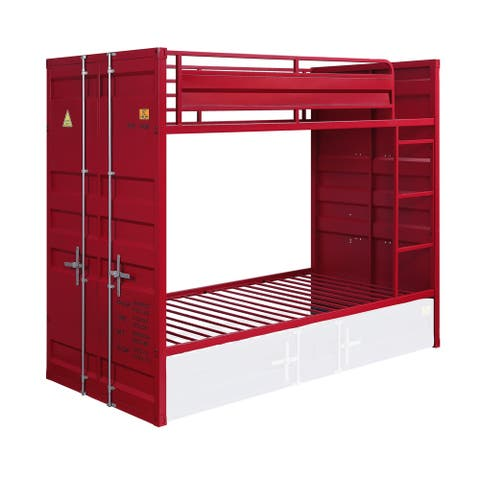 ACME Cargo Twin over Twin Bunk Bed in Red