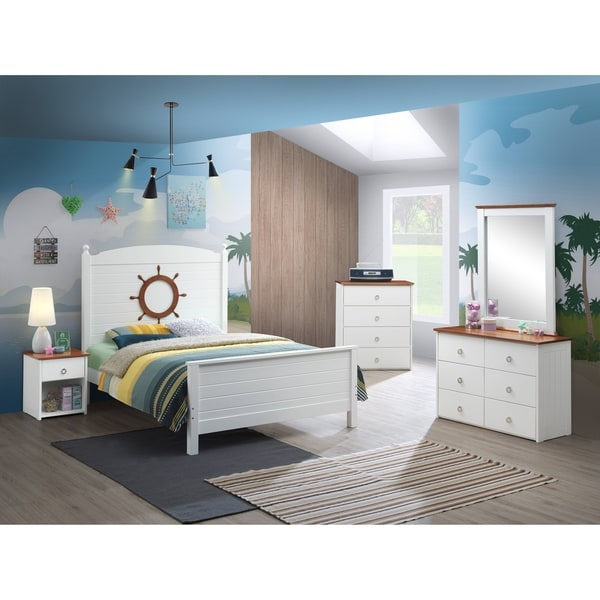 Taylor & Olive Camas White/ Oak 6-drawer Dresser