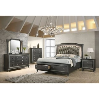 Silver Orchid Brockwell 9-drawer Metallic Gray Dresser