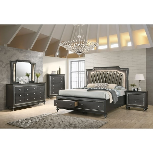 Silver Orchid Brockwell Metallic Gray Chest