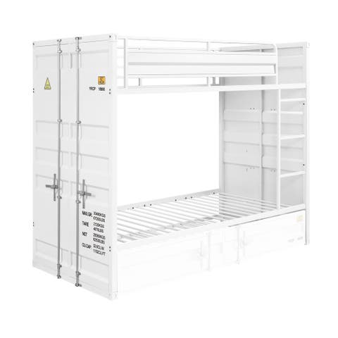 ACME Cargo Twin over Twin Bunk Bed in White