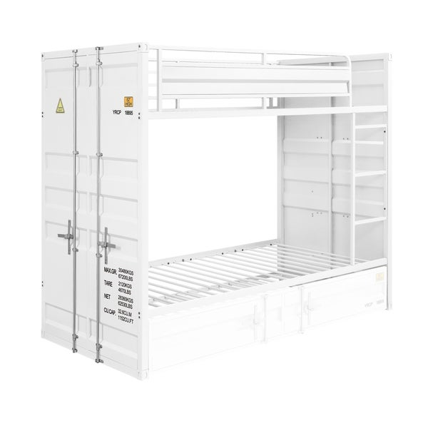 ACME Cargo Twin over Twin Bunk Bed in White. Opens flyout.