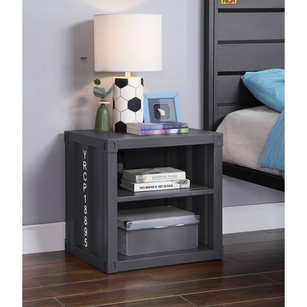 ACME Cargo Nightstand in Gunmetal
