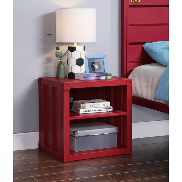 ACME Cargo Nightstand in Red. Opens flyout.
