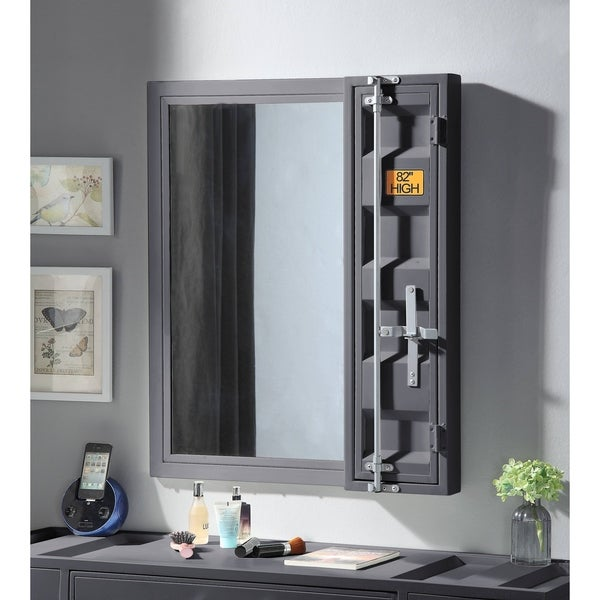 Cargo Brand Furniture: Shop ACME Cargo Vanity Mirror In Gunmetal