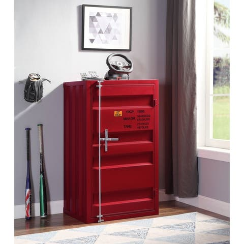 ACME Cargo Chest with 1 Door in Red