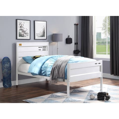 ACME Cargo Twin Bed in White
