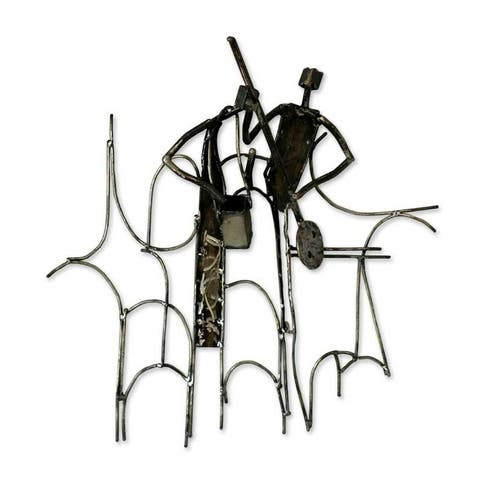 Music Train Recycled iron wall sculpture
