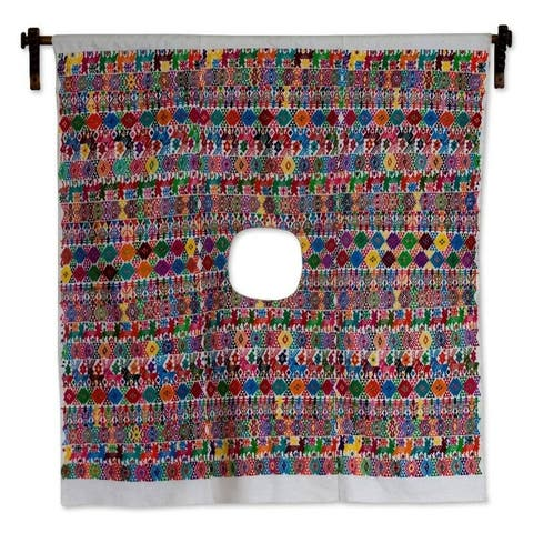 Handmade Morning in Tactic Cotton wall hanging (Guatemala)