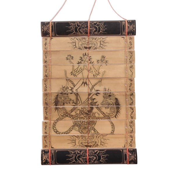 Handmade Symbol of God Palm leaf wall hanging (Indonesia). Opens flyout.