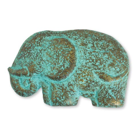 Handmade Elephant Honor Recycled paper wall sculpture (Thailand)