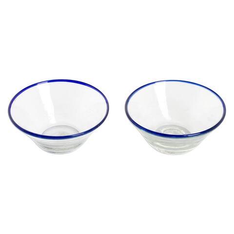 Handmade Icy Sweet Glass desert bowls (Guatemala)