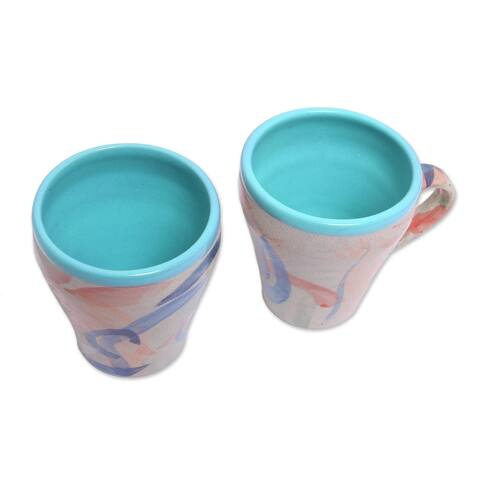 Handmade Blue Eden Ceramic cups (Indonesia)