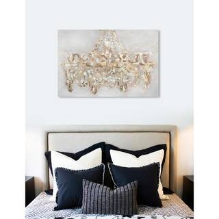 Oliver Gal 'Candelabro' Fashion and Glam Wall Art Canvas Print - Gold, White
